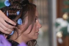 Jodie Marsh Hair in Rollers
