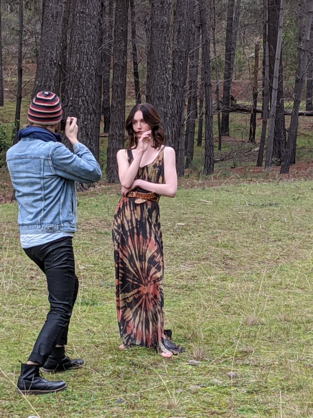 Jayde shooting with Matthew